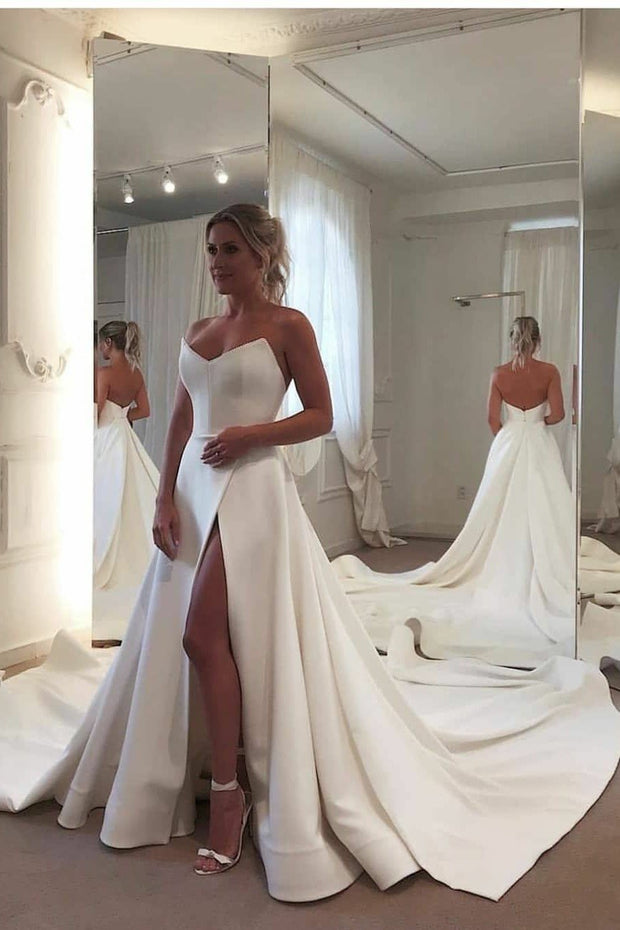 cathedral-train-satin-bride-dresses-wedding-with-high-leg-slit