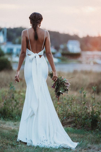 chic-slim-wedding-dress-with-ribbon-bow-back