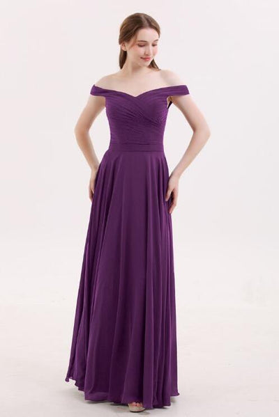 chiffon-long-grape-bridesmaid-dresses-with-off-the-shoulder