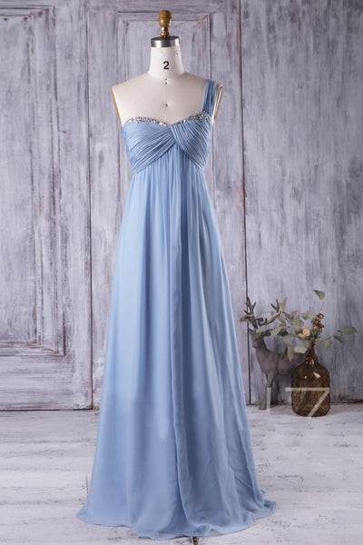 chiffon-maternity-bridesmaid-gown-with-ruched-one-shoulder