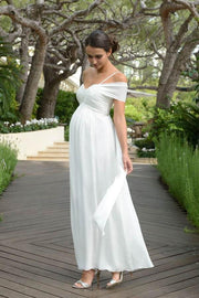 chiffon-maternity-wedding-dress-for-photo-shoot
