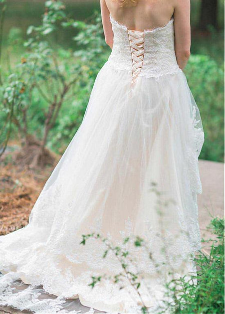 Corset Wedding Dresses.Country Style Corset Wedding Dress With Layers Lace Skirt