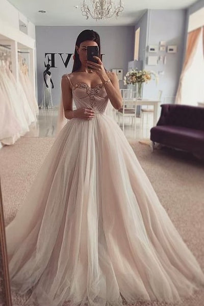 dusty-color-tulle-wedding-dresses-with-jewelry-bustier