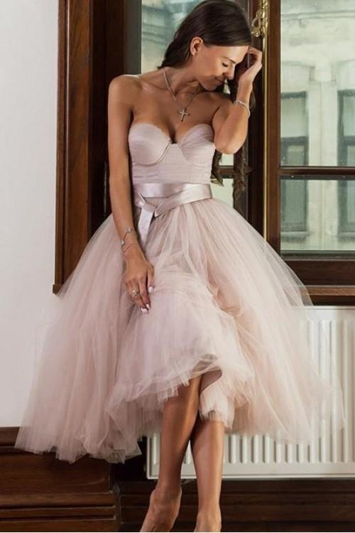 dusty-pink-tulle-homecoming-dresses-season-sweetheart-dance-gown