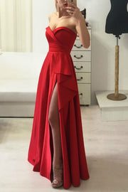 floor-length-red-satin-prom-gown-dress-with-ruffled-slit-side