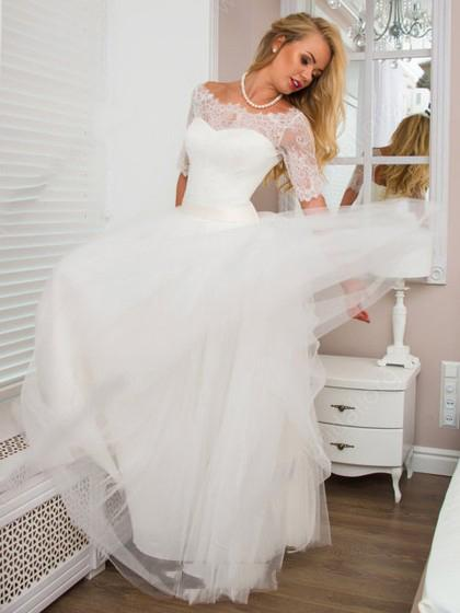 floor-length-tulle-ivory-wedding-gowns-with-lace-off-the-shoulder-1