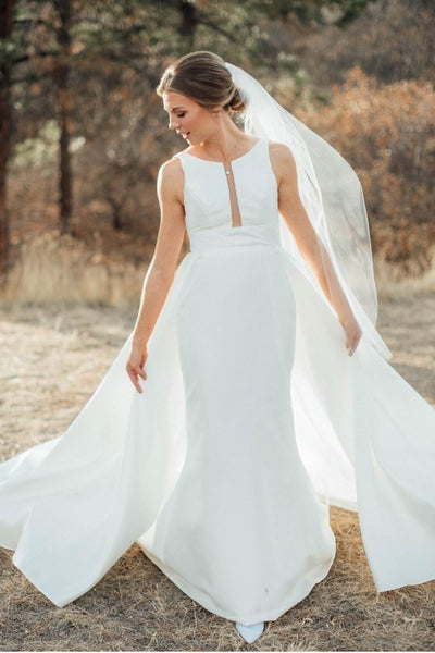 fresh-satin-sheath-wedding-dress-with-plunge-neckline