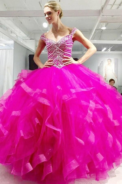 fuchsia-ruffled-ball-gown-quinceanera-dresses-with-beading-corset
