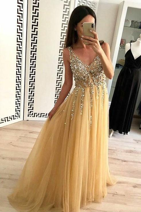 gold-tulle-prom-dress-with-rhinestones-v-neck-bodice