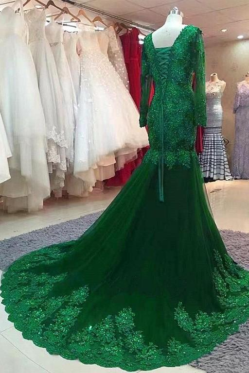 green-beaded-lace-bride-mothers-evening-gown-long-sleeve-1