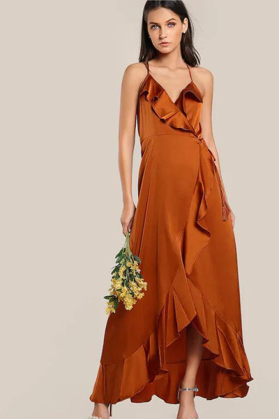 halter-burnt-orange-long-prom-dress-with-flounced-trim