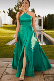 halter-emerald-green-long-prom-dresses-with-high-slit-side