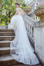 horsehair-trim-hi-lo-wedding-dresses-with-tulle-wrapped-sleeves-1