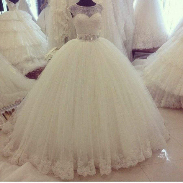 illusion-lace-ball-gown-wedding-dress-ivory-tulle-skirt-1