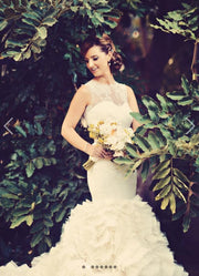 illusion-lace-mermaid-wedding-dress-with-tierd-ruffles-train-2