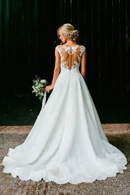 illusion-lace-v-neckline-wedding-lace-dresses-cap-sleeves-1