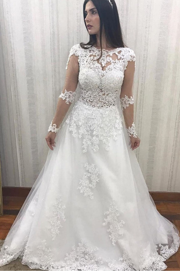 illusion-long-sleeves-bridal-dresses-lace-beaded-bodice