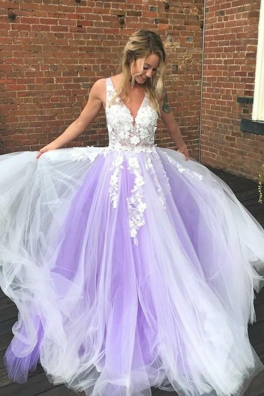 ivory-lavender-tulle-wedding-gown-with-floral-lace-bodice
