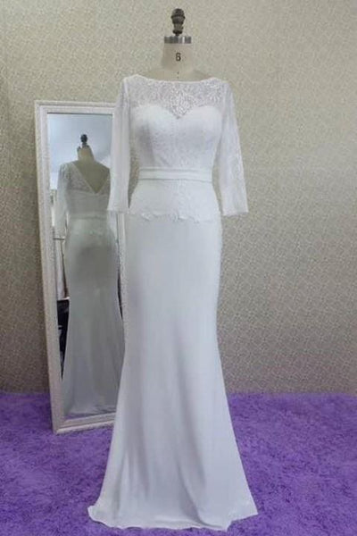 lace-and-chiffon-wedding-dress-with-sleeves