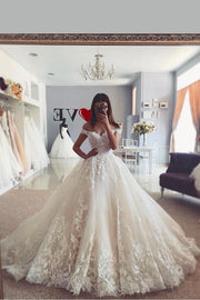 lace-garden-inspired-wedding-gown-with-off-the-shoulder