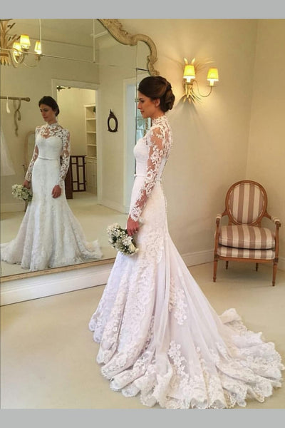 lace-illusion-long-sleeves-bridal-dresses-with-high-neckline