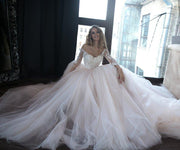 lace-tulle-blush-pink-wedding-dresses-with-off-the-shoulder-long-sleeves-2