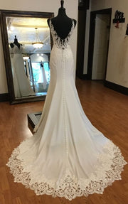 lace-v-neckline-sheath-wedding-gown-with-appliqued-trimmed-train-1