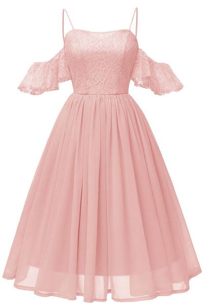 lace&chiffon-short-bridesmaid-dress-off-the-shoulder