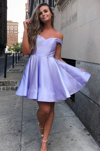 lavender-short-homecoming-dress-with-off-the-shoulder