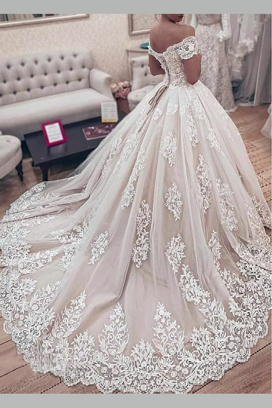 lavish-lace-wedding-ball-gown-dress-with-off-the-shoulder-sleeves-1