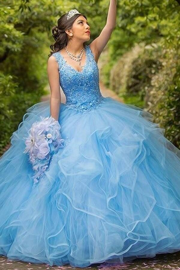 light-blue-tulle-ball-gown-lace-v-neckline-sweet-girl-16-quinceanera-dresses-1