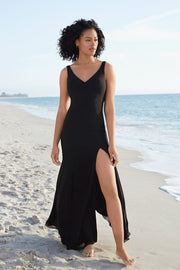 maxi-long-black-prom-gown-with-side-slit