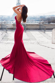 mermaid-style-evening-dress-with-lace-up-backless-1