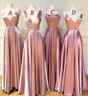 Mismatched Long Wedding Party Dresses for Bridesmaid 2020