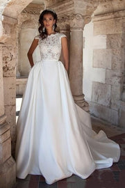 modern-a-line-lace-satin-wedding-gown-with-pockets