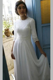 modest-chiffon-bride-dress-with-lace-sleeves-1