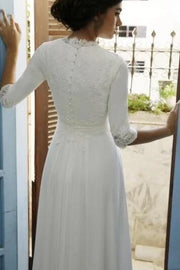 modest-chiffon-bride-dress-with-lace-sleeves-2