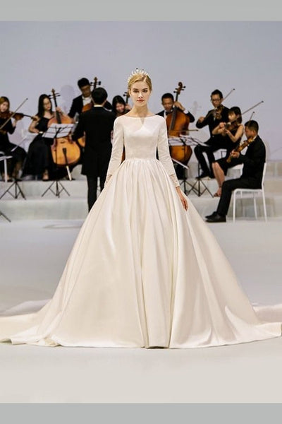 modest-satin-bridal-gowns-wedding-long-sleeves-vestido-de-novia