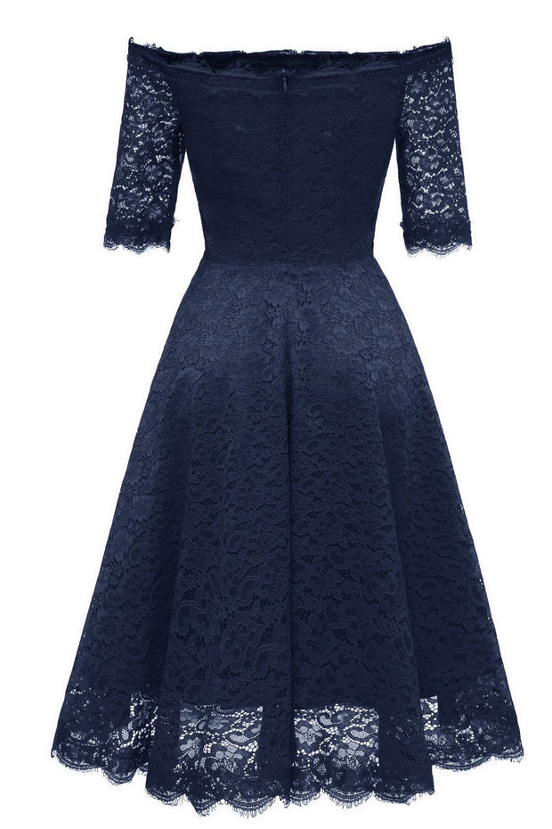 off-the-shoulder-dark-blue-bridesmaid-wedding-guest-dress-with-sleeves-1