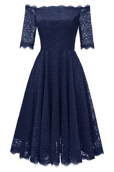 off-the-shoulder-dark-blue-bridesmaid-wedding-guest-dress-with-sleeves