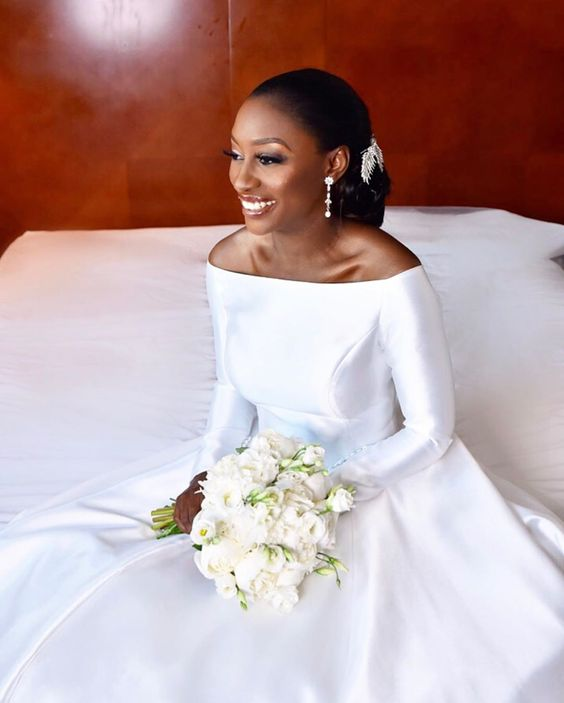 off-the-shoulder-sleeves-satin-white-bridal-dress-for-nigeria-2