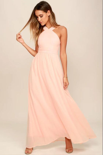 peach-chiffon-bridesmaid-dresses-long-maxi-dress