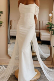 pearls-sheath-bridal-dresses-with-ruching-off-the-shoulder
