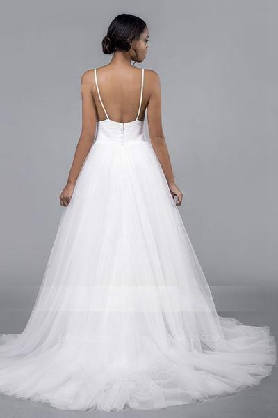 pleated-tulle-wedding-bridal-dresses-with-spaghetti-straps-1