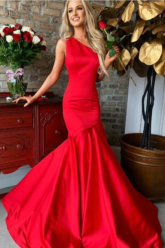 red-mermaid-long-prom-gown-one-shoulder-neckline