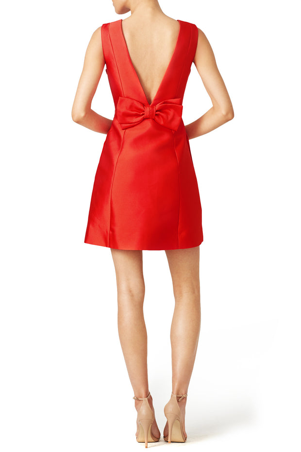 red-satin-mini-cocktail-party-gown-with-v-neckline-1