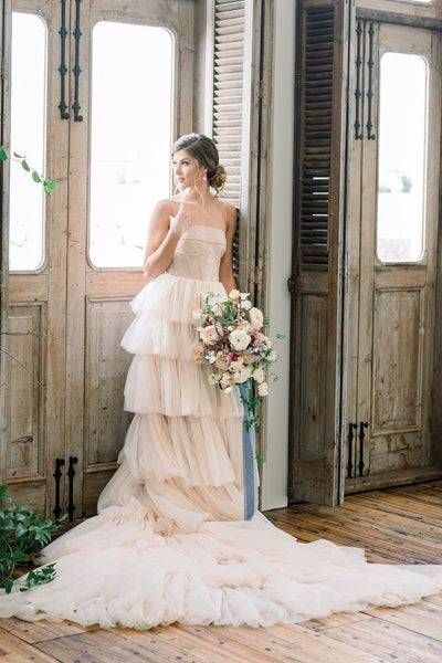 romantic-a-line-tiered-tulle-wedding-dresses-for-women