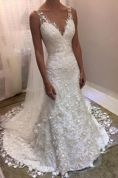 romantic-floral-wedding-gown-with-v-neckline