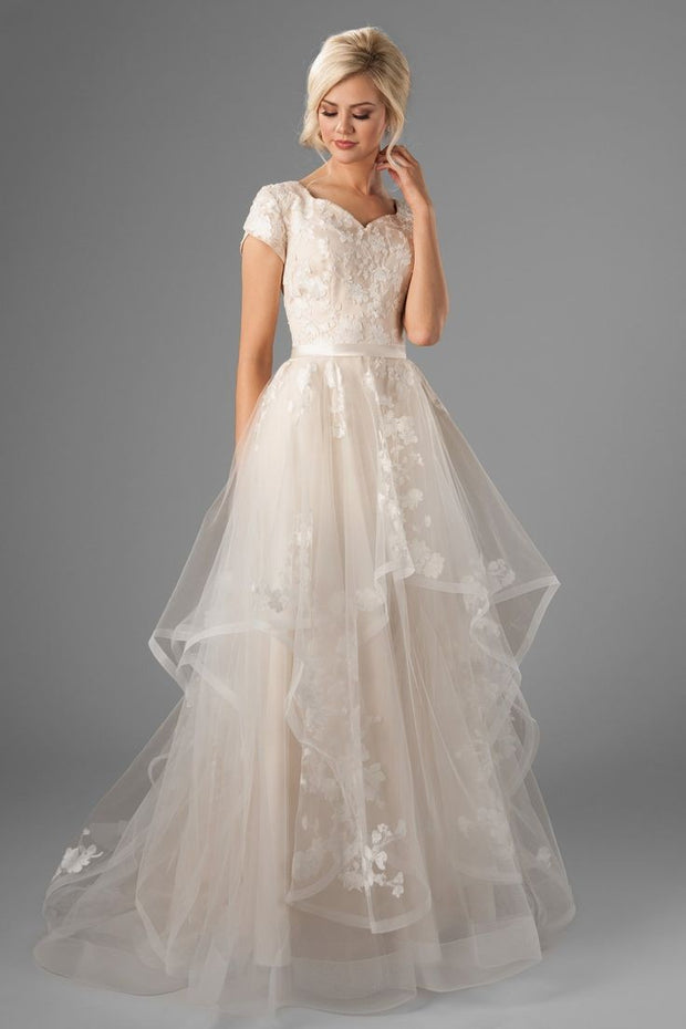 romantic-horsehair-lace-wedding-gown-with-short-sleeves-2
