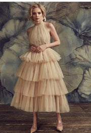 ruch-bodice-champagne-prom-dress-with-tulle-tiered-skirt